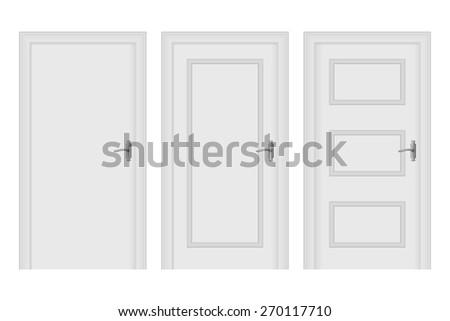 Door. Isolated on white background. Raster version - stock photo