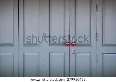 Door knob - vintage style background  - stock photo
