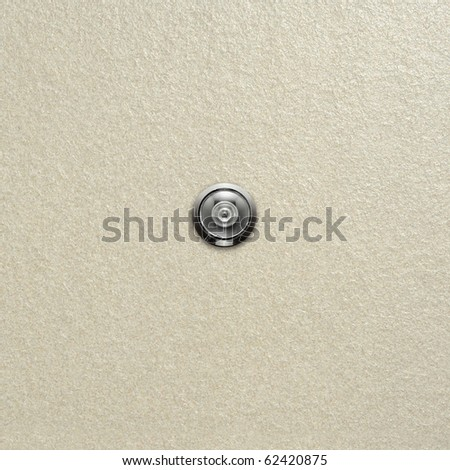door lens peephole on white wall