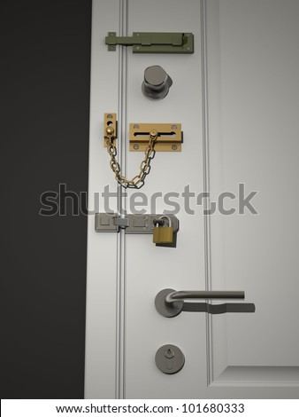 Door latch stock images royalty free images vectors for 007 door locks