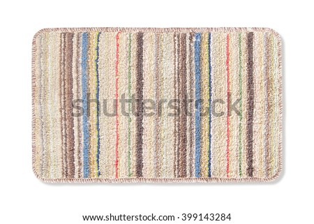Door mat isolated on white background  - stock photo
