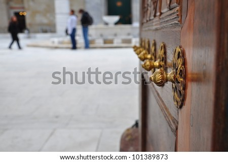 door of a palace in Turkey
