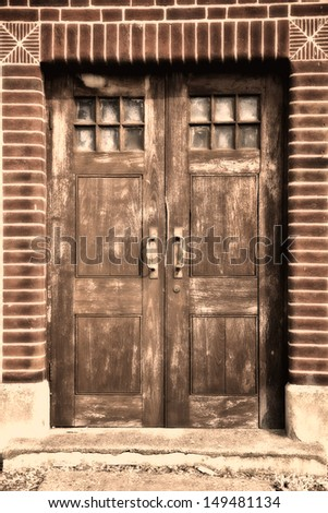 Door of an old building in Europe