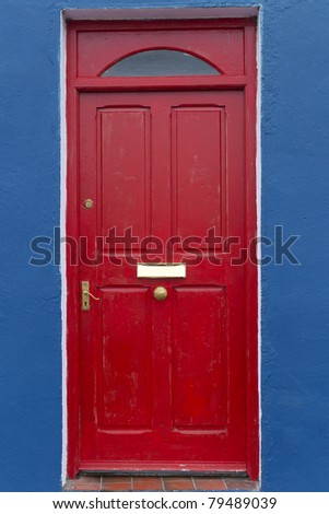 Door of country house at Western Ireland