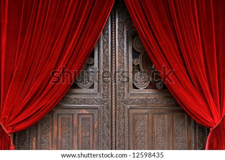 Door of the Cathedral of Athens - stock photo