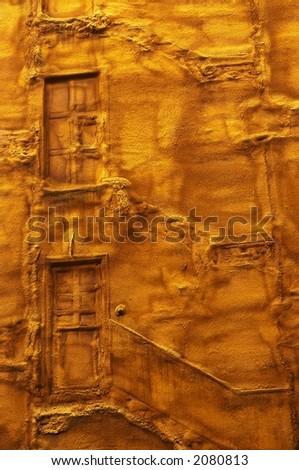 door petrified - stock photo