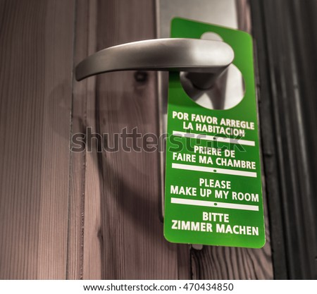 Door sign hanger - Please Make Up My Room