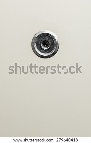 Door Spyhole - stock photo