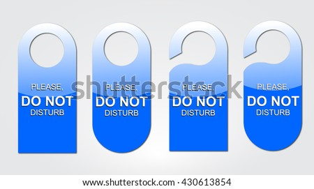 Door tag icon set.