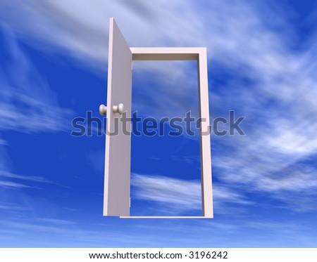 Door to Freedom - stock photo