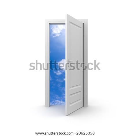 Door to sky - stock photo
