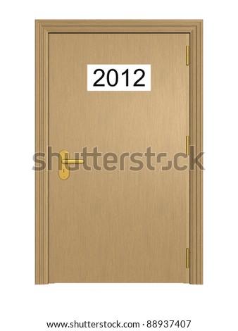 Door to the New Year 2012 - stock photo