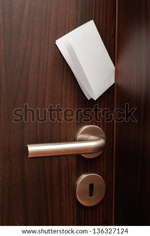Door with a note