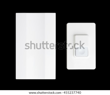 doorbell isolated on a black background