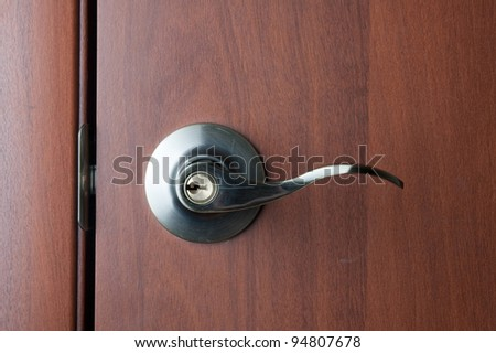 Doorhandle. door handle. - stock photo