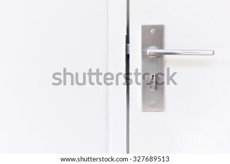 Doorknob at a white door