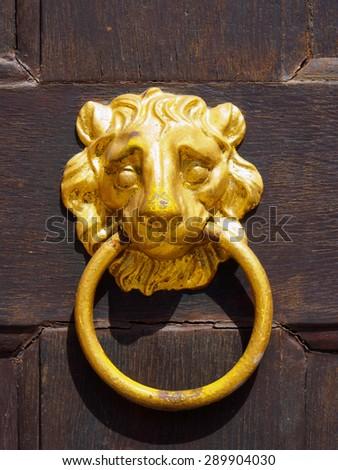 Doorknocker - stock photo