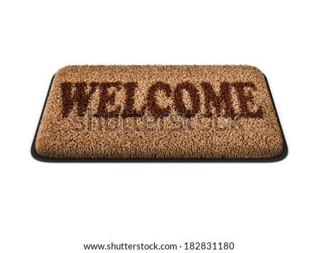 doormat isolated - stock photo