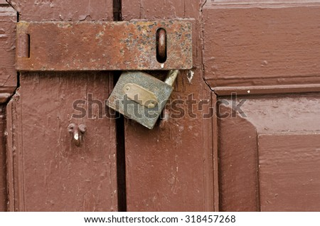 Doors and Key lock - stock photo