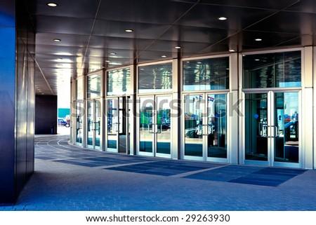Doors in modern office - stock photo