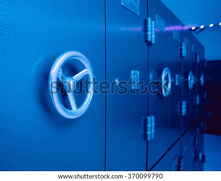 Doors of the safe in the bank. Background - stock photo