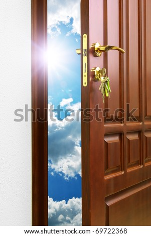 Doorway to heaven. Conceptual design. - stock photo