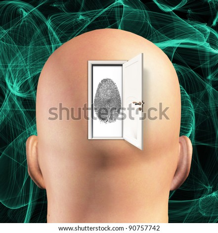 Doorway to Ideantity - stock photo