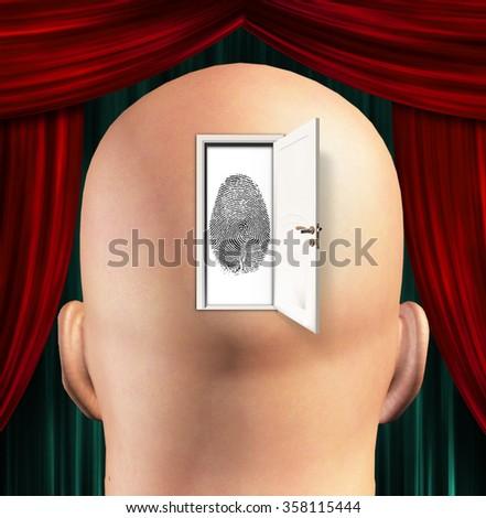 Doorway to Identity - stock photo