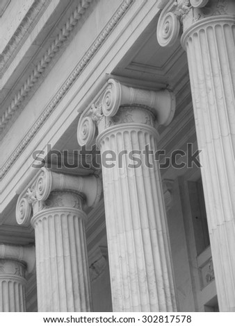 doric columns - stock photo
