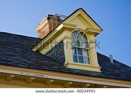 dormer window of mansion
