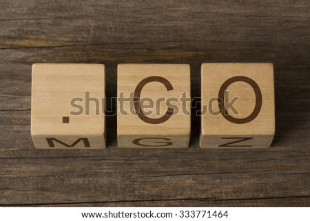 dot co - internet domain for Colombia - stock photo
