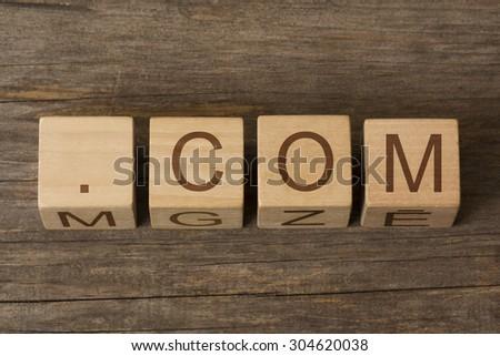 dot com internet commercial domain - stock photo