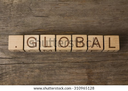 dot global -  internet domain provides instant, worldwide recognition for brands with a borderless strategy - stock photo