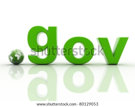 Dot gov domain name - stock photo