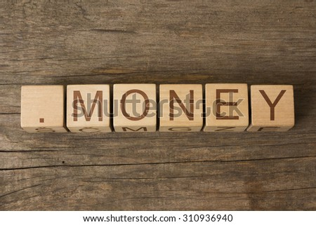 dot money - domain name for websites that focus on financial matters - stock photo