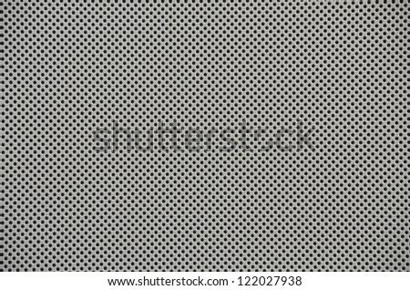 dot pattern of metal mesh filter - stock photo