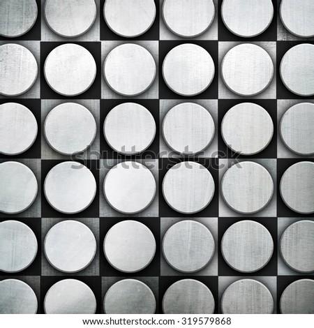 dot pattern on metal plate - stock photo