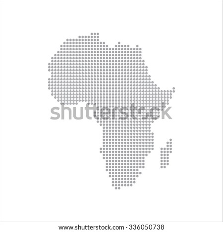 Dots Grey Map Africa , modern Illustration - stock photo