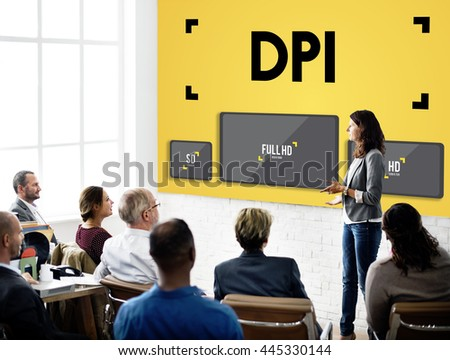 Dots Per Inch Resolution Pixel Monitor Digital Art Concept