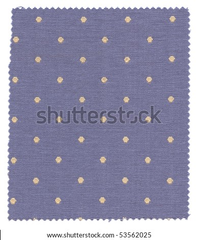 Dotted Fabric Swatch with zigzag edges