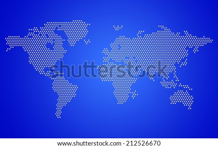 Dotted Map Of The World Concept - stock photo