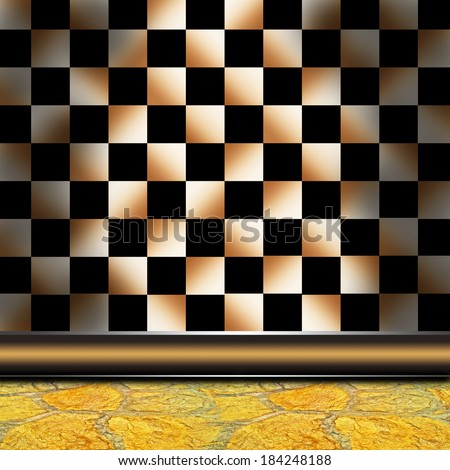 Double background from a wall and a floor - stock photo