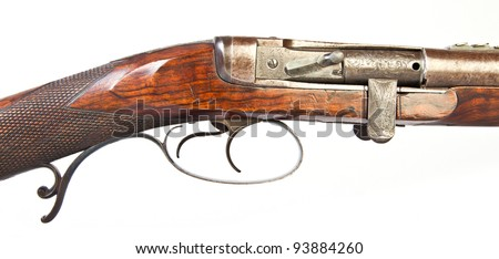 double-barrelled side by side hunting gun by Joseph Needham. England. XIX century.