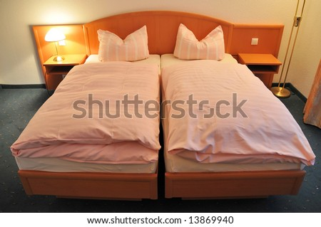 Double bed - stock photo