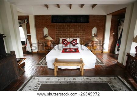 Double Bed In Beautiful Hotel Kathmandu Nepal
