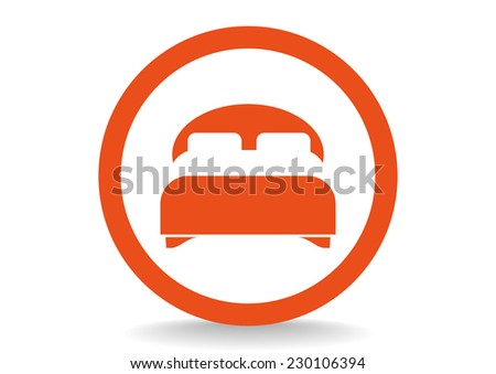 double bed, web icon.  - stock photo