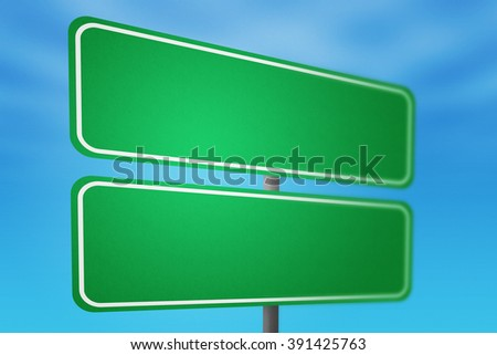 Double Blank Road Sign