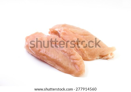 Double chicken breast on white background