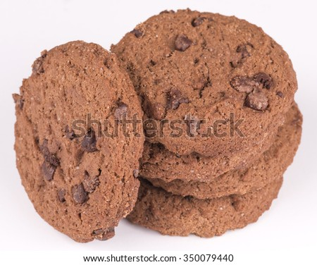Double chocolate cookies - stock photo