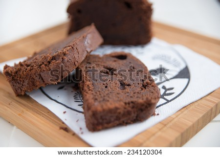 double chocolate loaf cake  - stock photo